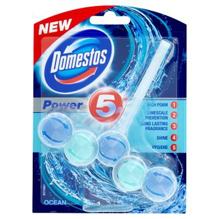 Domestos Power 5 Ocean Wc tuhý blok 55 g